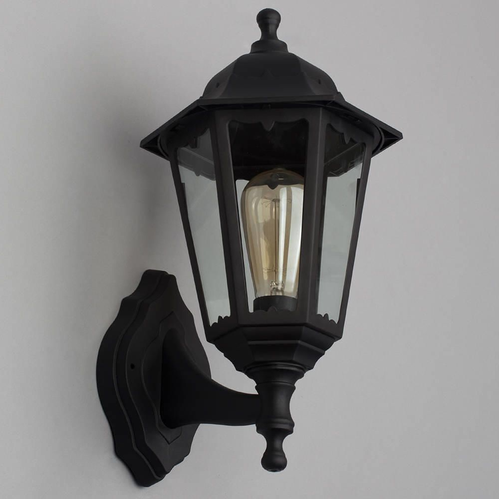 Most Recently Released Neri Outdoor Polycarbonate Wall Lantern – Black (View 18 of 20)