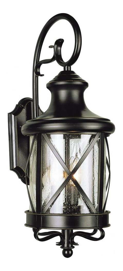 Most Recently Released Tangier Dark Bronze Wall Lanterns For Trans Globe Two Light Rubbed Oil Bronze Clear Seeded Glass (View 10 of 20)