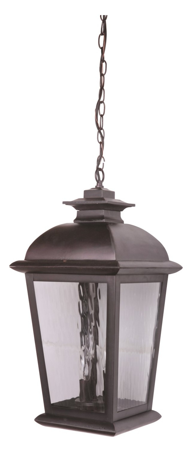 Most Recently Released Tilley Olde Bronze Water Glass Outdoor Wall Lanterns Inside Craftmade Oiled Bronze Branbury 3 Light Rectangular (View 18 of 20)