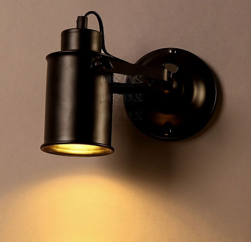 Most Recently Released Vintage Industrial Style Sconce Matte Black E27 Light Pertaining To Rickey Matte Antique Black Wall Lanterns (View 17 of 20)