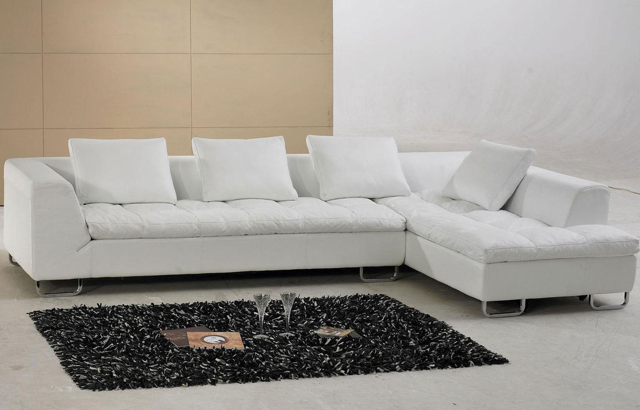 Most Recently Released White Leather Sectional Sofa With Pillow Top Design (View 10 of 20)