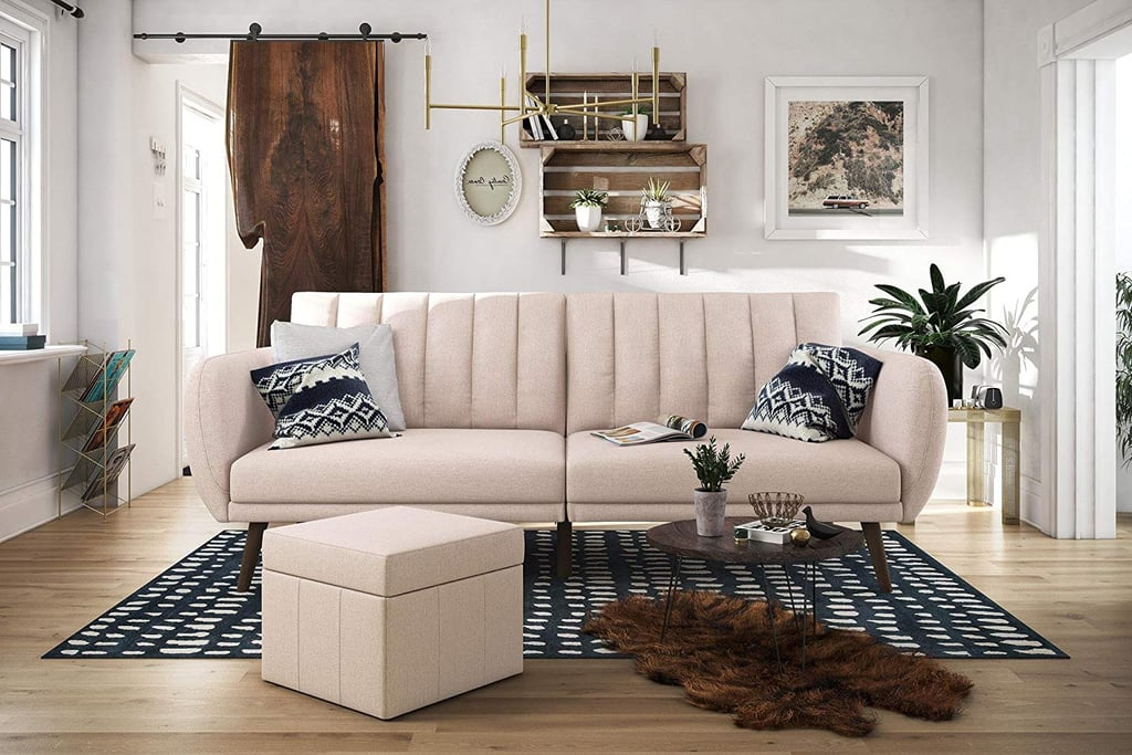 Most Stylish Pink Home Intended For Fashionable Brittany Sectional Futon Sofas (View 19 of 20)