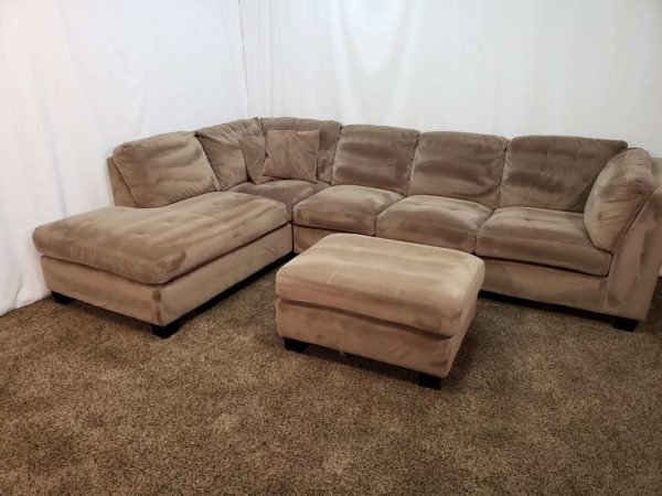 Most Up To Date #1655 – 3 Piece Brown Microfiber Sectional Sofa With An Throughout 3pc Polyfiber Sectional Sofas (View 8 of 20)