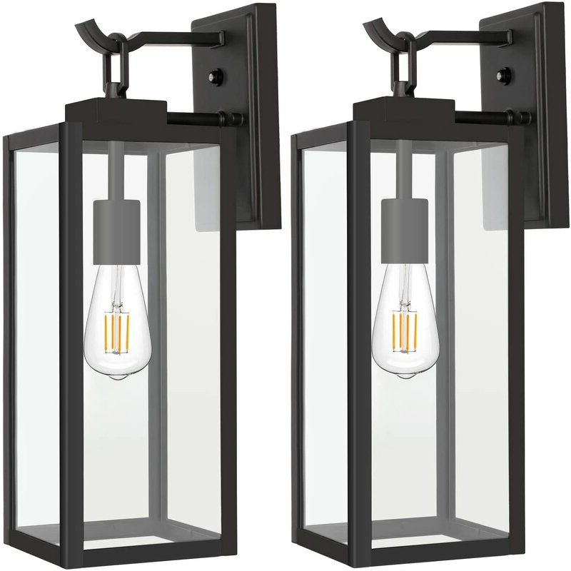 Most Up To Date 17 Stories Outdoor Wall Lantern With Dusk To Dawn In Manteno Black Outdoor Wall Lanterns With Dusk To Dawn (View 11 of 20)