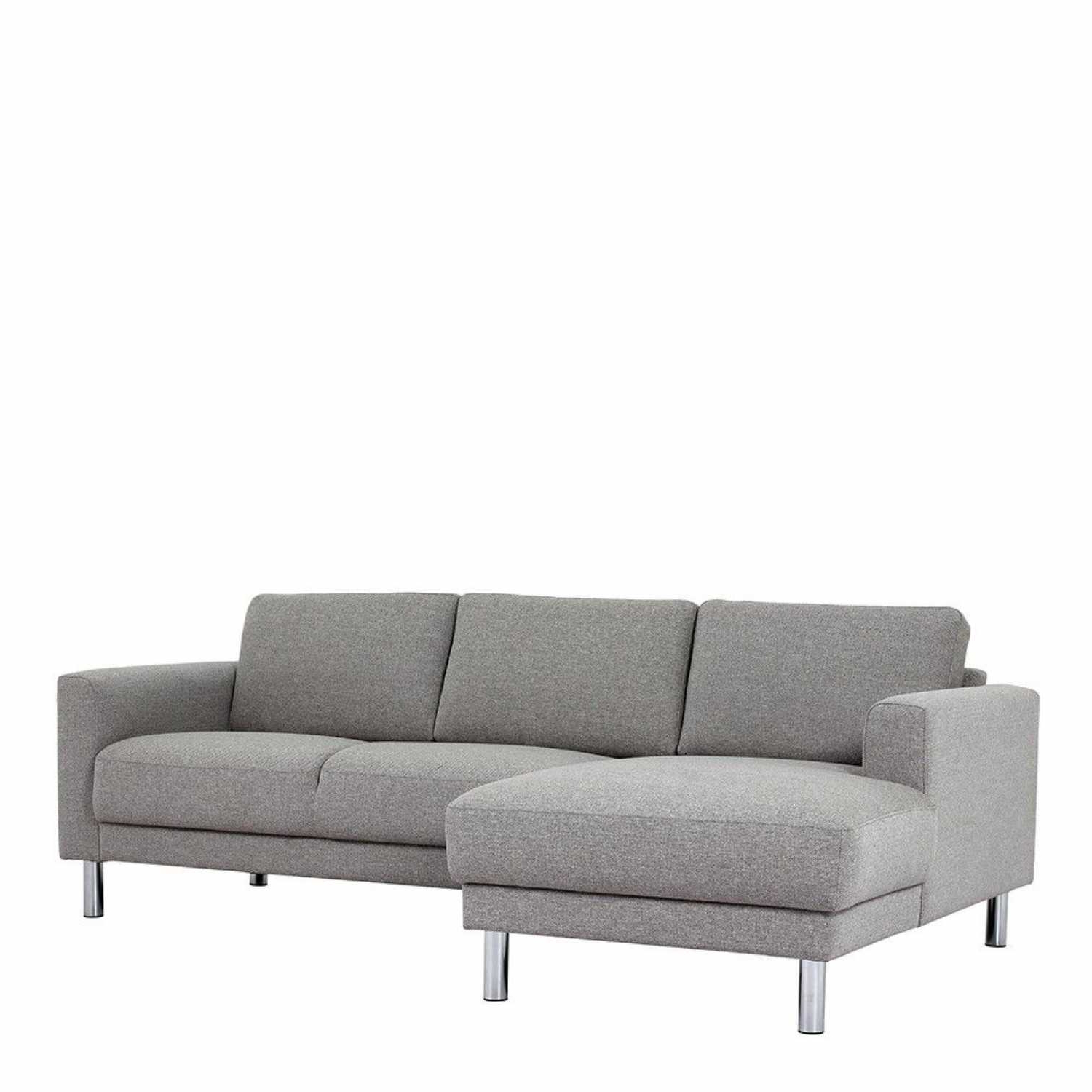 Most Up To Date 2pc Crowningshield Contemporary Chaise Sofas Light Gray Intended For Contemporary Nova Light Grey Fabric Left Hand Corner (View 20 of 20)