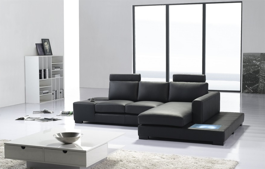 Most Up To Date 3pc Ledgemere Modern Sectional Sofas Pertaining To T35 Mini Modern Leather Sectional Sofa (View 19 of 20)