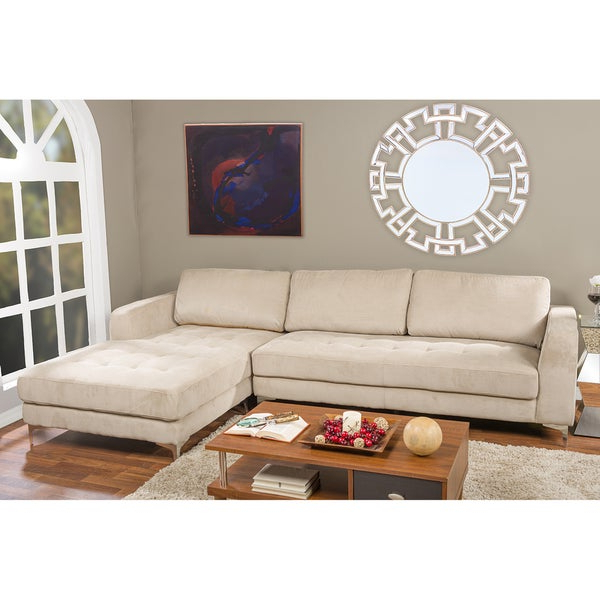 Most Up To Date Agnew Contemporary Beige Fabric Right Facing Sectional With Hannah Right Sectional Sofas (View 12 of 20)