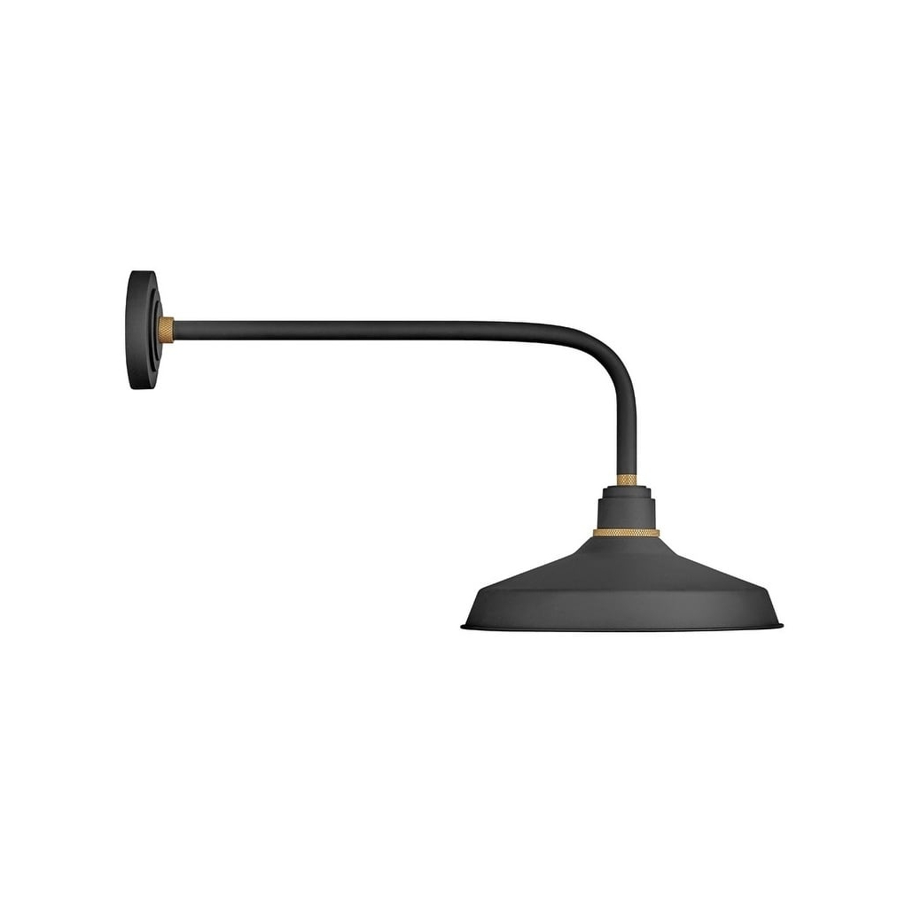 Most Up To Date Brierly Oil Rubbed Bronze/black Outdoor Wall Lanterns Pertaining To Hinkley Foundry 1 Light Outdoor Wall Mount Lantern In (View 11 of 20)