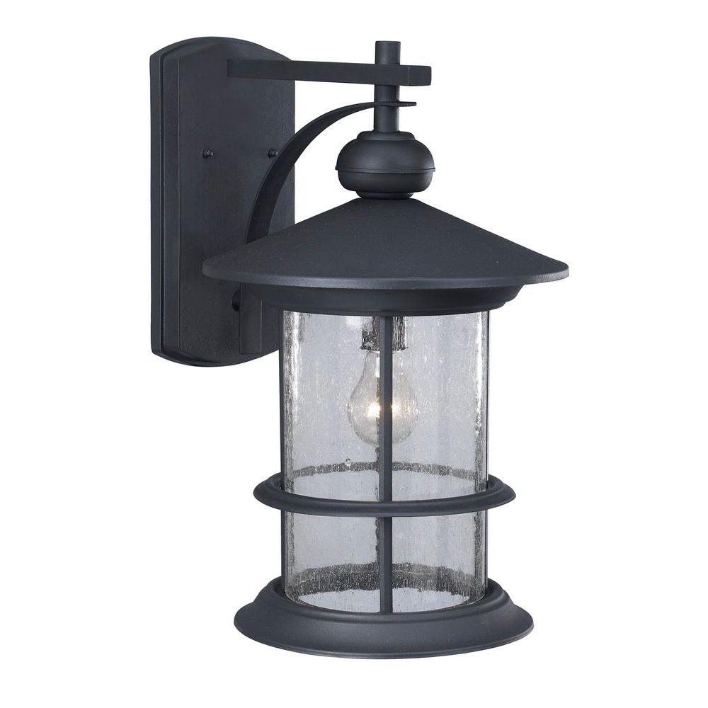 Most Up To Date Carrington Beveled Glass Outdoor Wall Lanterns With Canarm Ryder 1 Light Black Outdoor Wall Lantern With (View 14 of 20)