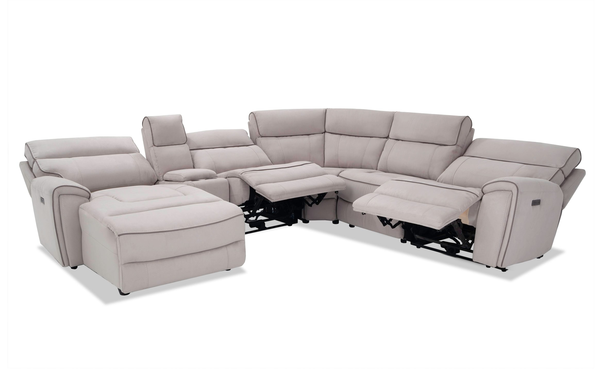 Most Up To Date Contempo Power Reclining Sofas Within Contempo 6 Piece Power Reclining Left Arm Facing Sectional (View 5 of 20)