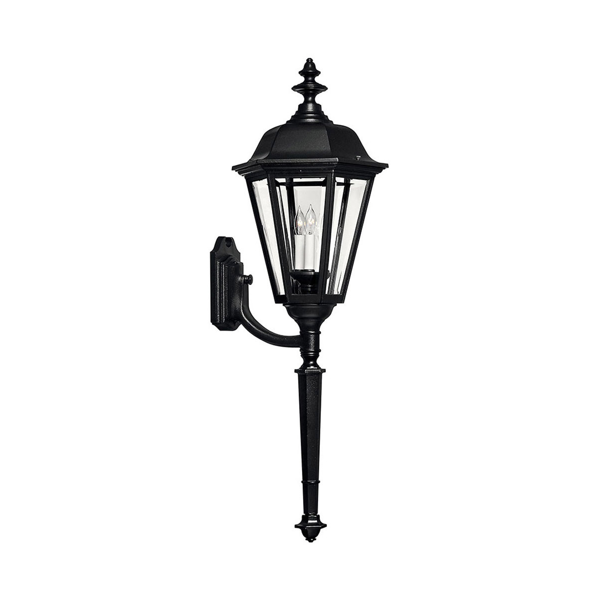Most Up To Date Esquina Powder Coated Black Outdoor Wall Lanterns For Hinkley Lighting 1470bk Manor House Outdoor Wall Light (View 17 of 20)