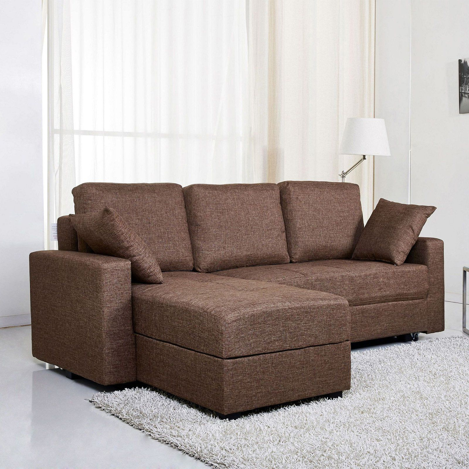 Most Up To Date Gold Sparrow Aspen Fabric Convertible Storage Sectional Inside Live It Cozy Sectional Sofa Beds With Storage (View 10 of 20)