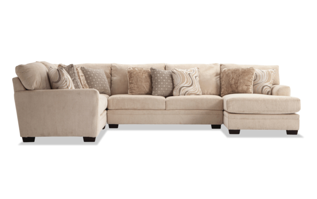 Most Up To Date Luxe Gray 2 Piece Right Arm Facing Sectional With Chaise Throughout 2pc Maddox Right Arm Facing Sectional Sofas With Chaise Brown (View 1 of 20)