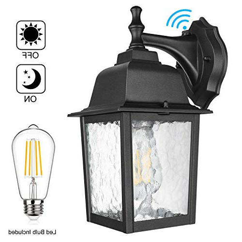 Most Up To Date Manteno Black Outdoor Wall Lanterns With Dusk To Dawn With Regard To Dusk To Dawn Sensor Outdoor Wall Lantern Waterproof (View 5 of 20)
