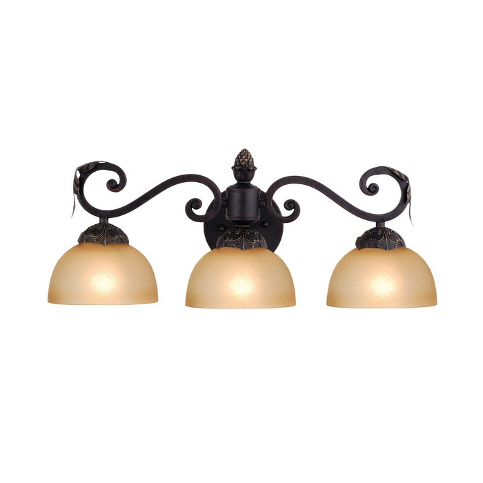 Most Up To Date Meyda Tiffany 3 – Light Mahogany Bronze Armed Sconce Throughout Cantrall 8'' H Outdoor Armed Sconces (View 7 of 20)