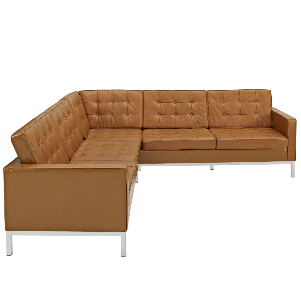 Most Up To Date Owego L Shaped Sectional Sofas In Bateman Leather L Shaped Sectional Sofa (View 15 of 20)