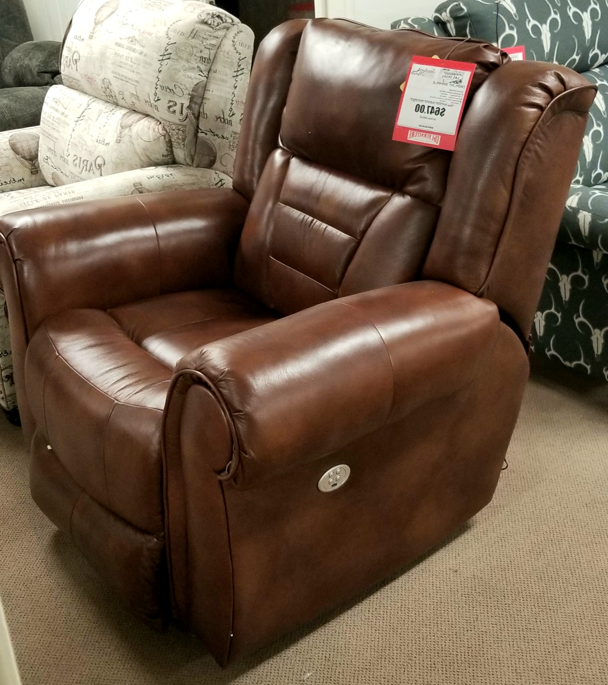 Most Up To Date Recliners Throughout Titan Leather Power Reclining Sofas (View 7 of 20)
