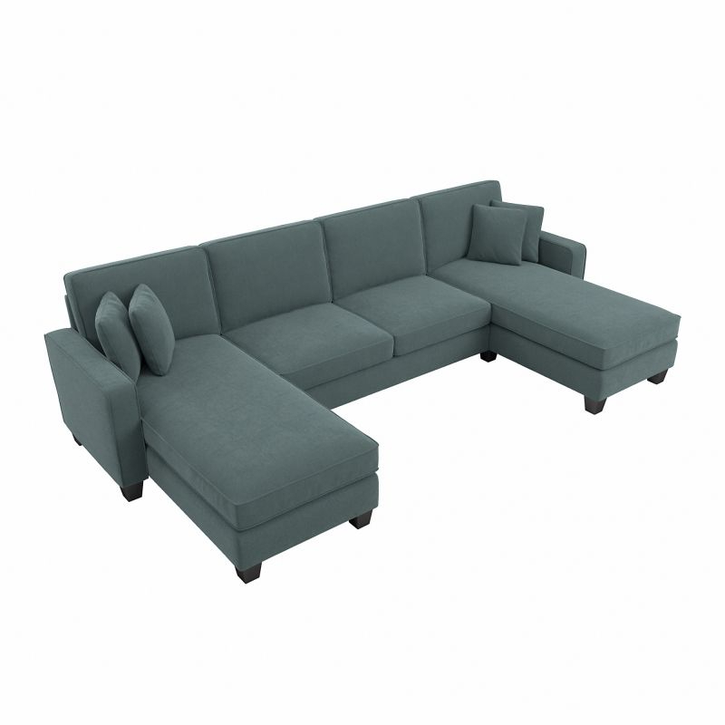 """Most Up To Date Sofas And Sectionals Intended For 130"""" Stockton Sectional Couches With Double Chaise Lounge Herringbone Fabric (View 4 of 20)"""