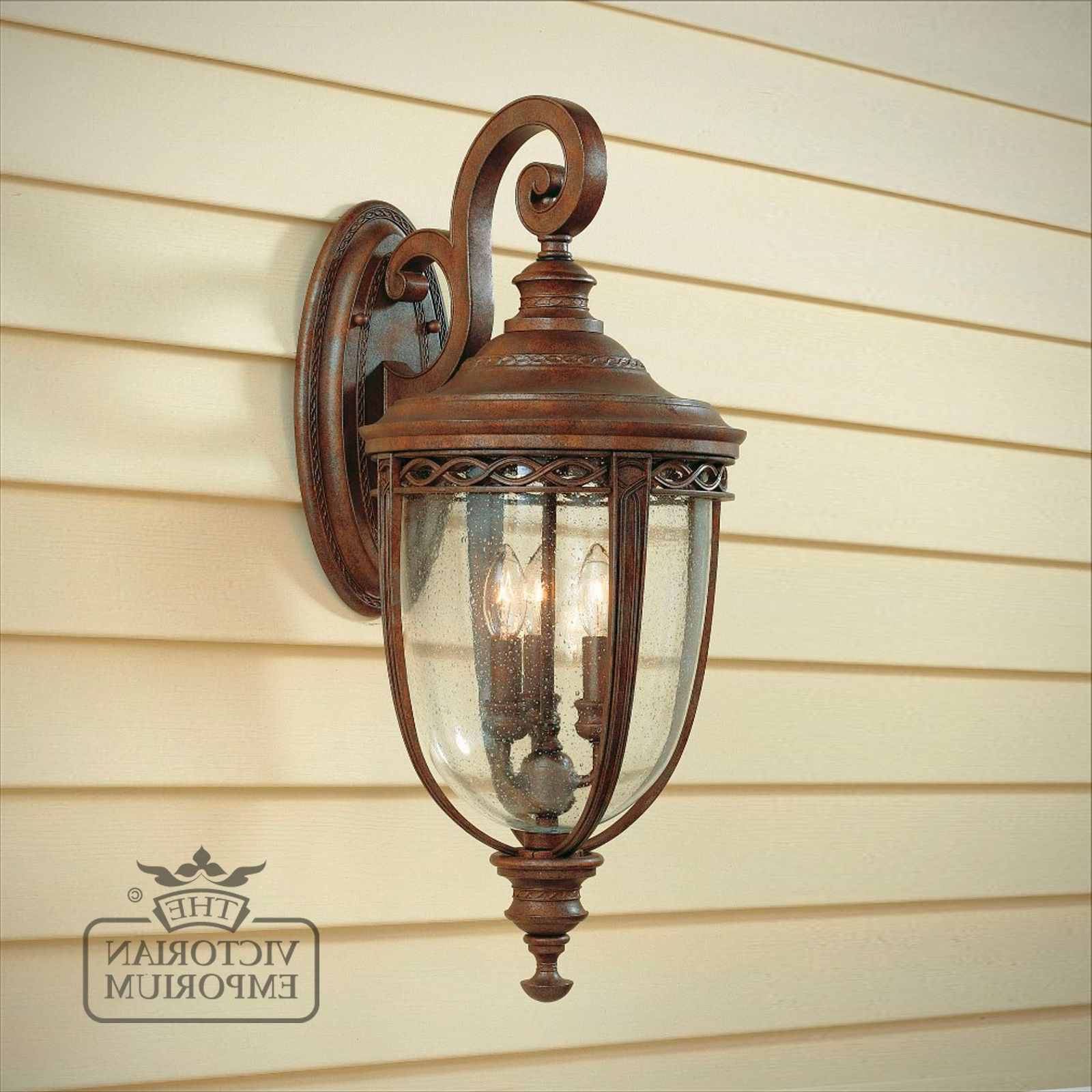 Most Up To Date Tangier Dark Bronze Wall Lanterns Intended For Bridle Wall Lantern In British Bronze Finish – Large (View 6 of 20)