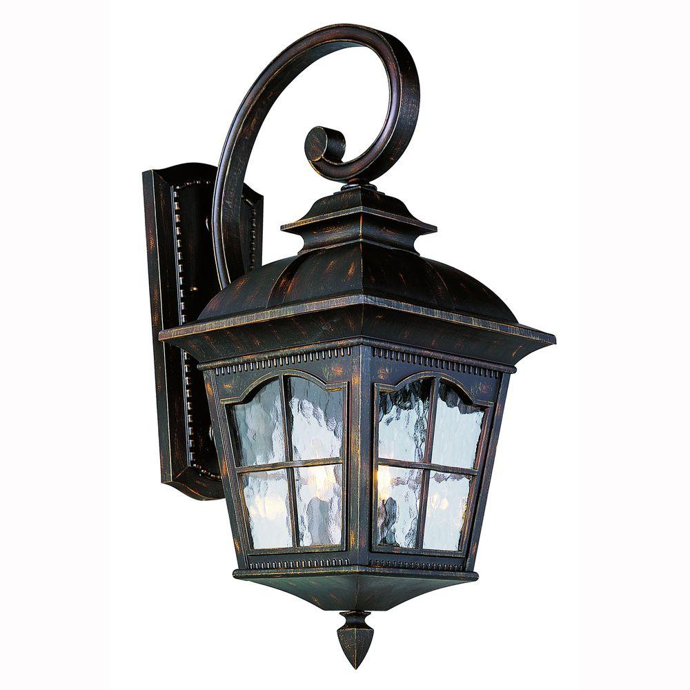 Most Up To Date Tilley Olde Bronze Water Glass Outdoor Wall Lanterns With Bel Air Lighting Carriage House 4 Light Outdoor Oiled (View 12 of 20)