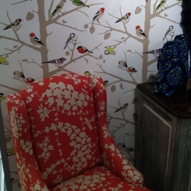 Most Up To Date Vera Outdoor Wall Lanterns Intended For Cute Chair & Wallpaper In Vera Bradley Showroom! (View 4 of 20)