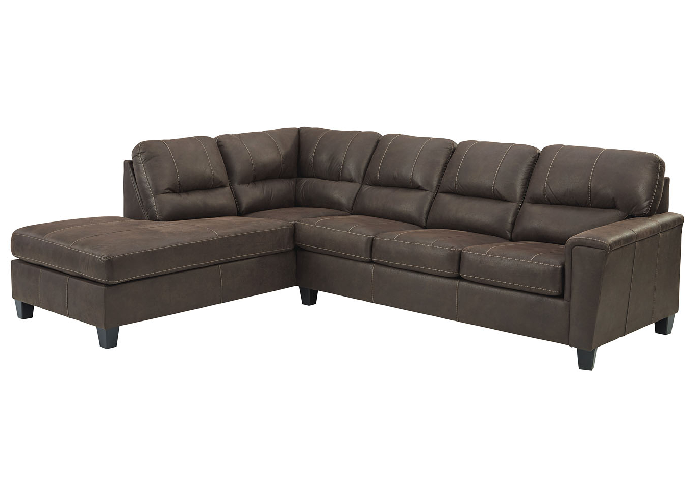 Navi Chestnut Right Arm Facing Sofa Chaise Family For Popular 2pc Maddox Right Arm Facing Sectional Sofas With Chaise Brown (View 14 of 20)
