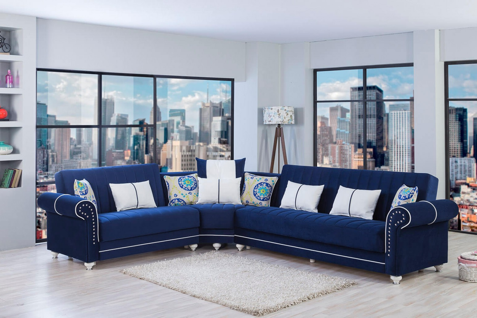 Navy Blue Microfiber Sectional Sofa Best Of Elliot Fabric With Well Known Dream Navy 2 Piece Modular Sofas (View 17 of 20)