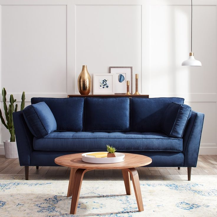 Navy Blue Sofa Best 25 Navy Blue Sofa Ideas On Pinterest Pertaining To 2019 Dove Mid Century Sectional Sofas Dark Blue (View 5 of 20)