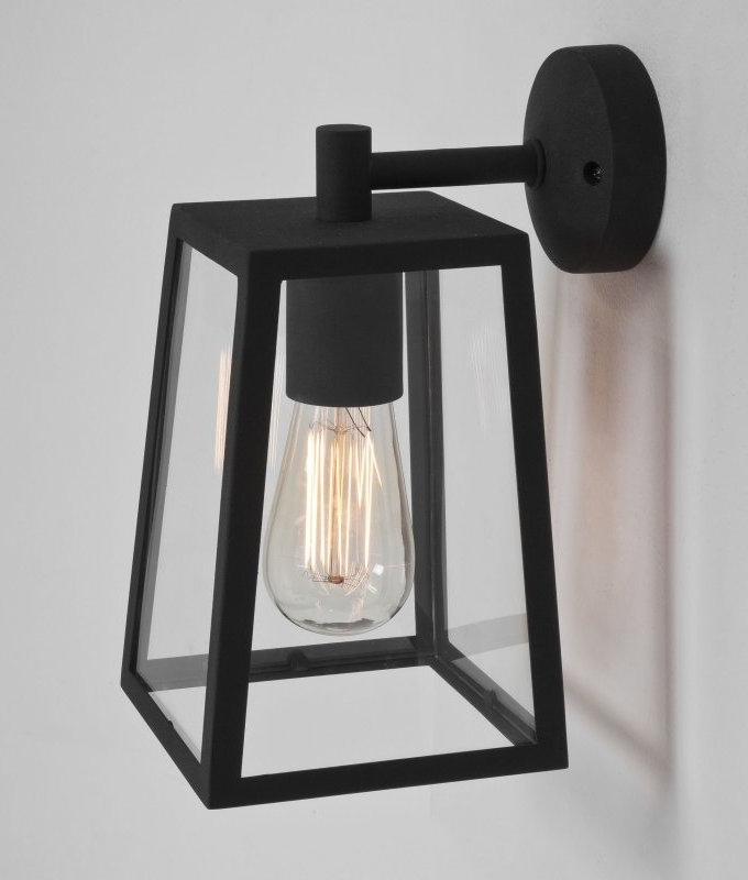 Nayen Black Wall Lanterns In Most Current Contemporary 4 Paned Bracket Lantern (View 20 of 20)