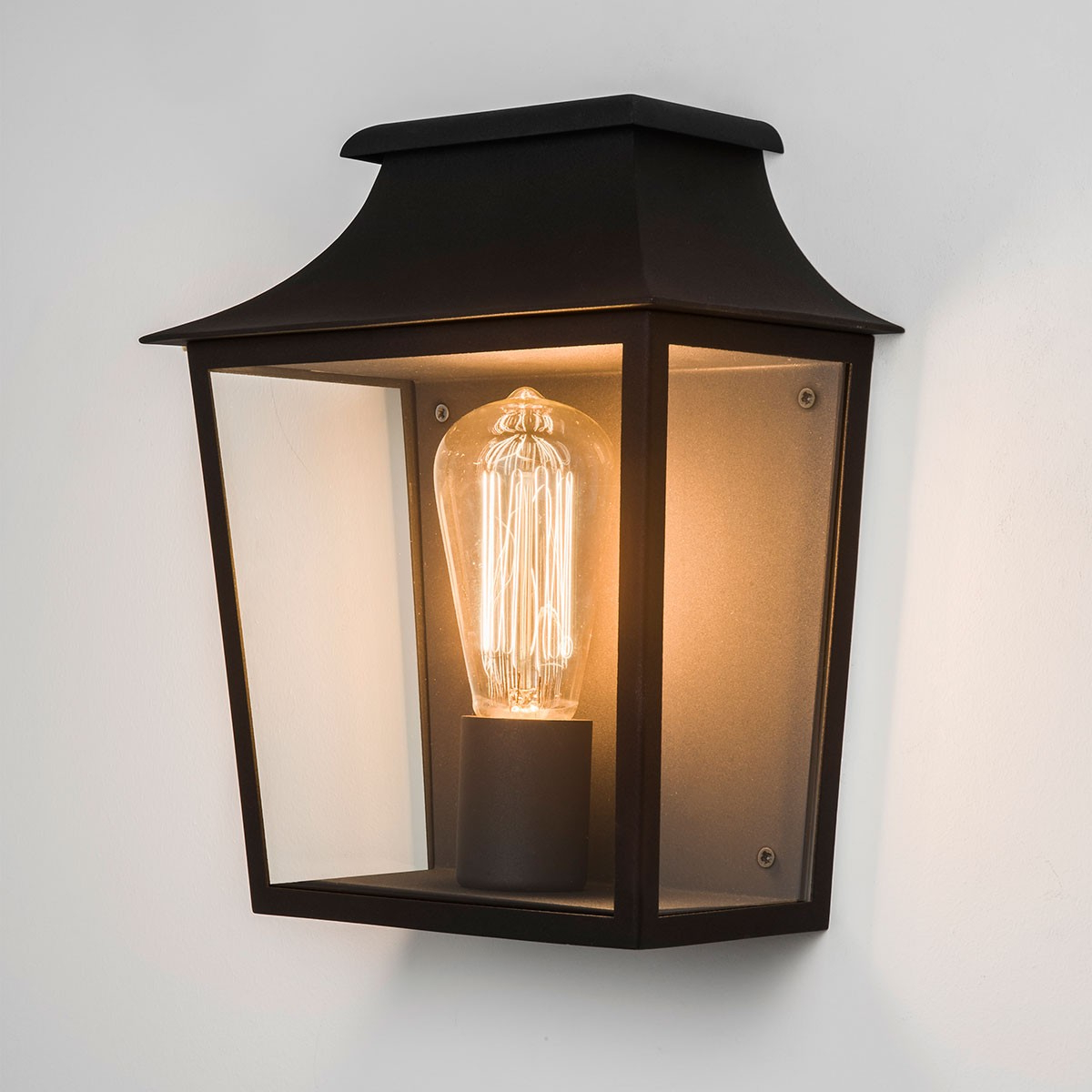 Nayen Black Wall Lanterns With Regard To Current Astro Richmond Black Outdoor Wall Light At Uk Electrical (View 12 of 20)