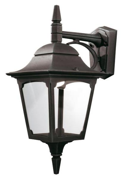 Nayen Black Wall Lanterns With Regard To Fashionable Elstead Chapel 1 Light Downward Outdoor Wall Lantern Black (View 10 of 20)