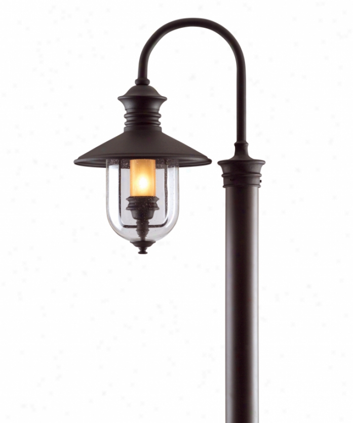 Needham Dark Bronze 17'' H Seeded Glass Outdoor Flush Mount With Regard To Well Known Troy Lighting P9364nb D Old Town Dark Sky 1 Light Outdoor (View 4 of 19)