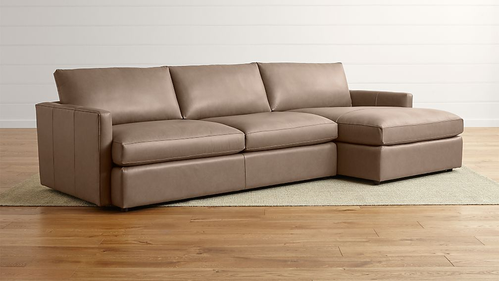 Newest 2pc Maddox Left Arm Facing Sectional Sofas With Chaise Brown Within Left Sectional Sofa Sofa Design Ideas Facing Left Hand (View 11 of 20)