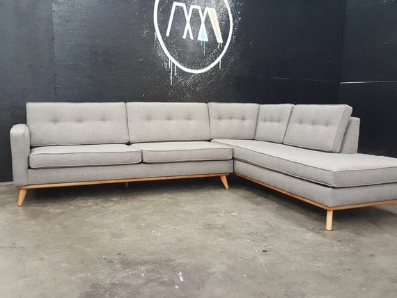 Newest Alani Mid Century Modern Sectional Sofas With Chaise Within Mid Century Modern Sectional Chaise Sofa (View 18 of 20)