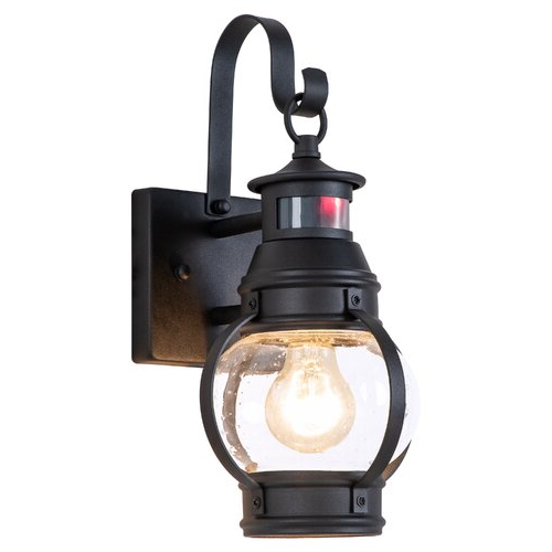 Newest Ballina Matte Black Outdoor Wall Lanterns With Dusk To Dawn Throughout Breakwater Bay Freitag Matte Black 1 – Bulb  (View 8 of 20)