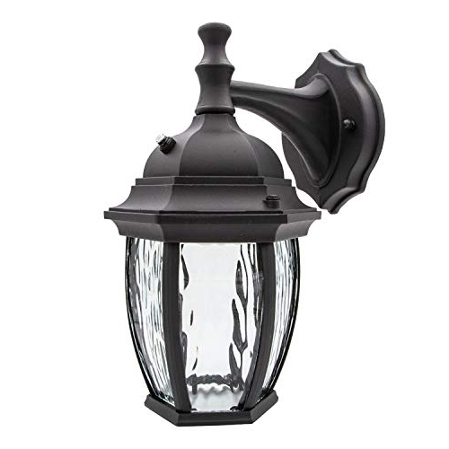 Newest Brinks 7519d 693 Lgt Augustine 60w With Dusk To Dawn Light With Regard To Edenfield Water Glass Outdoor Wall Lanterns With Dusk To Dawn (View 7 of 20)
