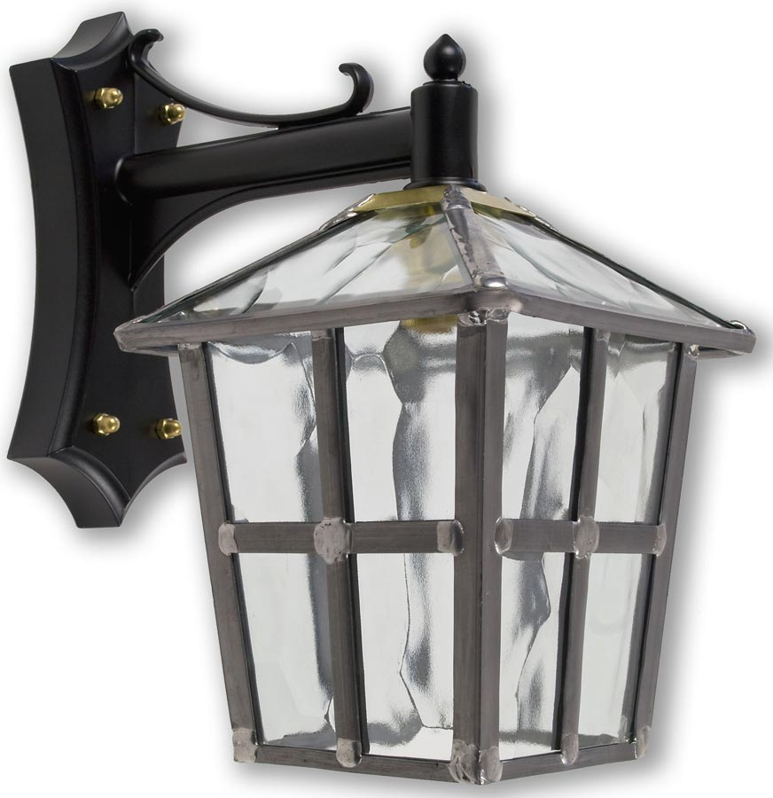 Newest Chicopee Beveled Glass Outdoor Wall Lanterns Intended For York Handmade Clear Rippled Leaded Glass Outdoor Wall Lantern (View 14 of 20)