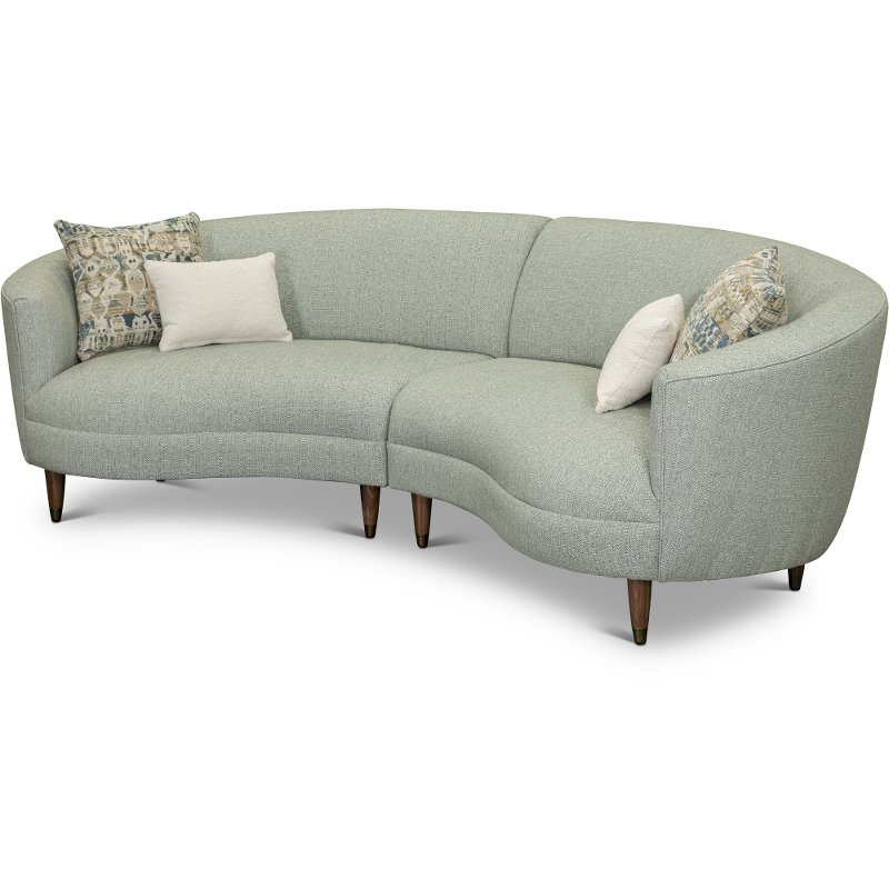 Newest French Seamed Sectional Sofas Oblong Mustard Intended For Curved Conversation Sectional Sofa Are Leather (View 8 of 20)