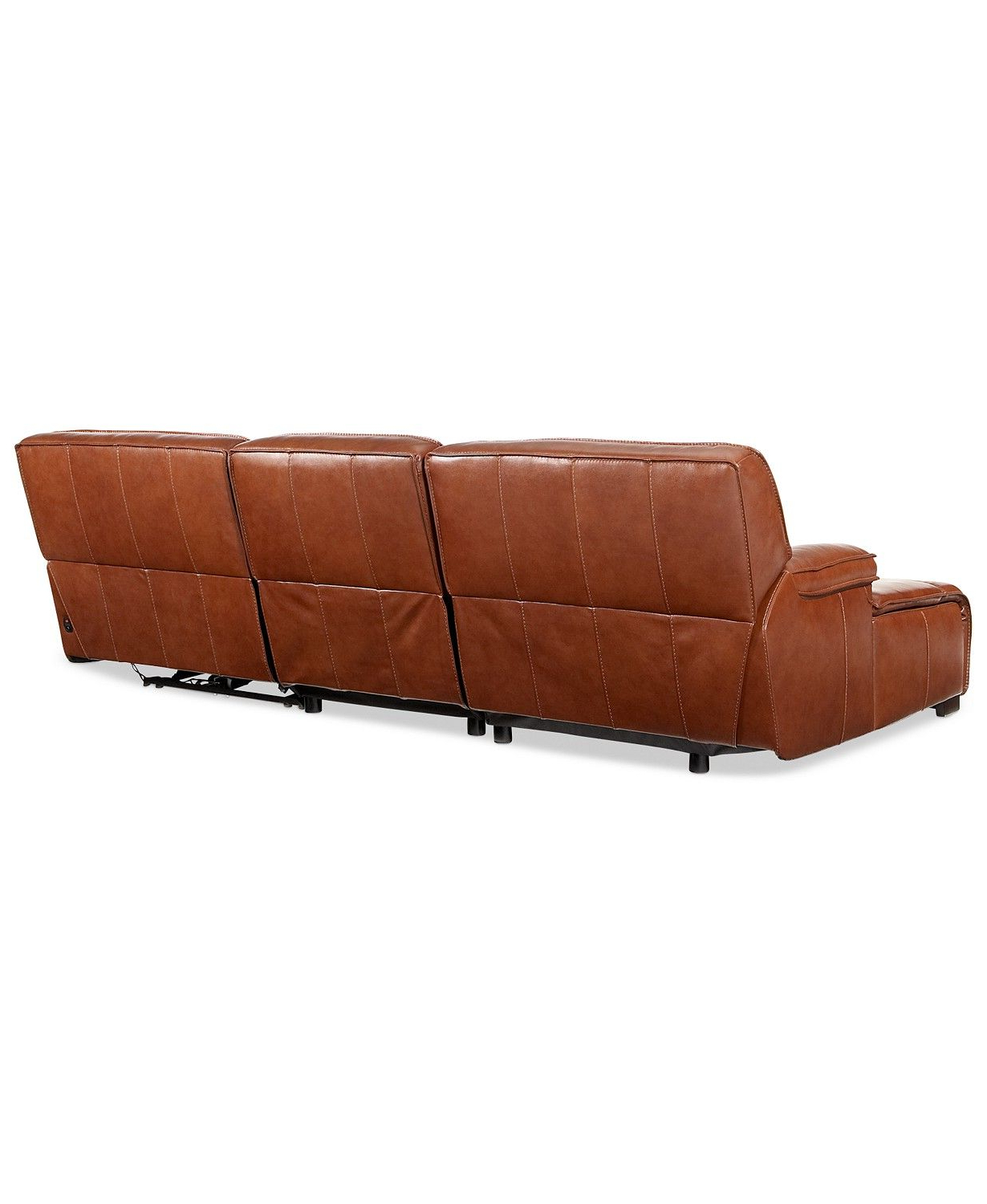 Newest Furniture Beckett 3 Pc Leather Sectional Sofa With Chaise Inside 3pc Miles Leather Sectional Sofas With Chaise (View 8 of 20)