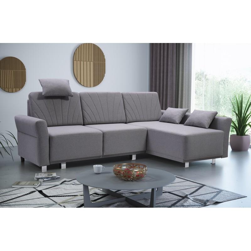 Newest Hartford Storage Sectional Futon Sofas Regarding Bmf Molly Modern Corner Sofa Bed Storage Chrome Legs (View 9 of 20)