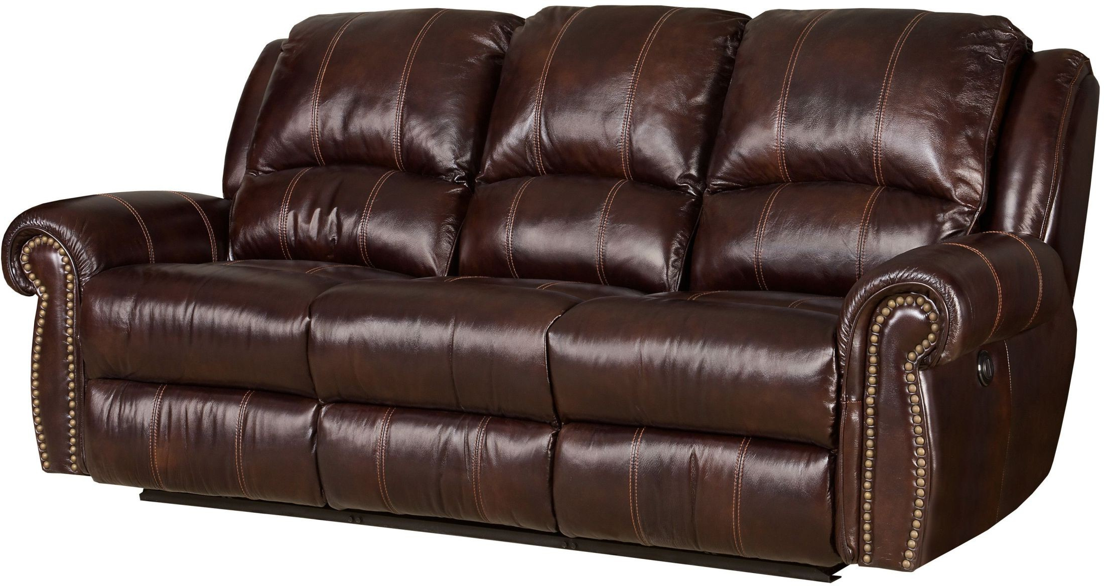 Newest Jackson Brown Power Leather Reclining Sofa From Hooker In Expedition Brown Power Reclining Sofas (View 6 of 20)