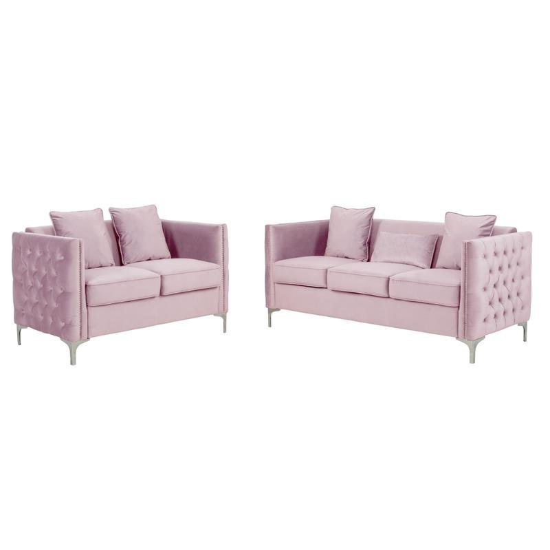 Newest Living Room Sets: Sofa Sets With Couch And Loveseat Intended For 2pc Maddox Right Arm Facing Sectional Sofas With Cuddler Brown (View 6 of 17)