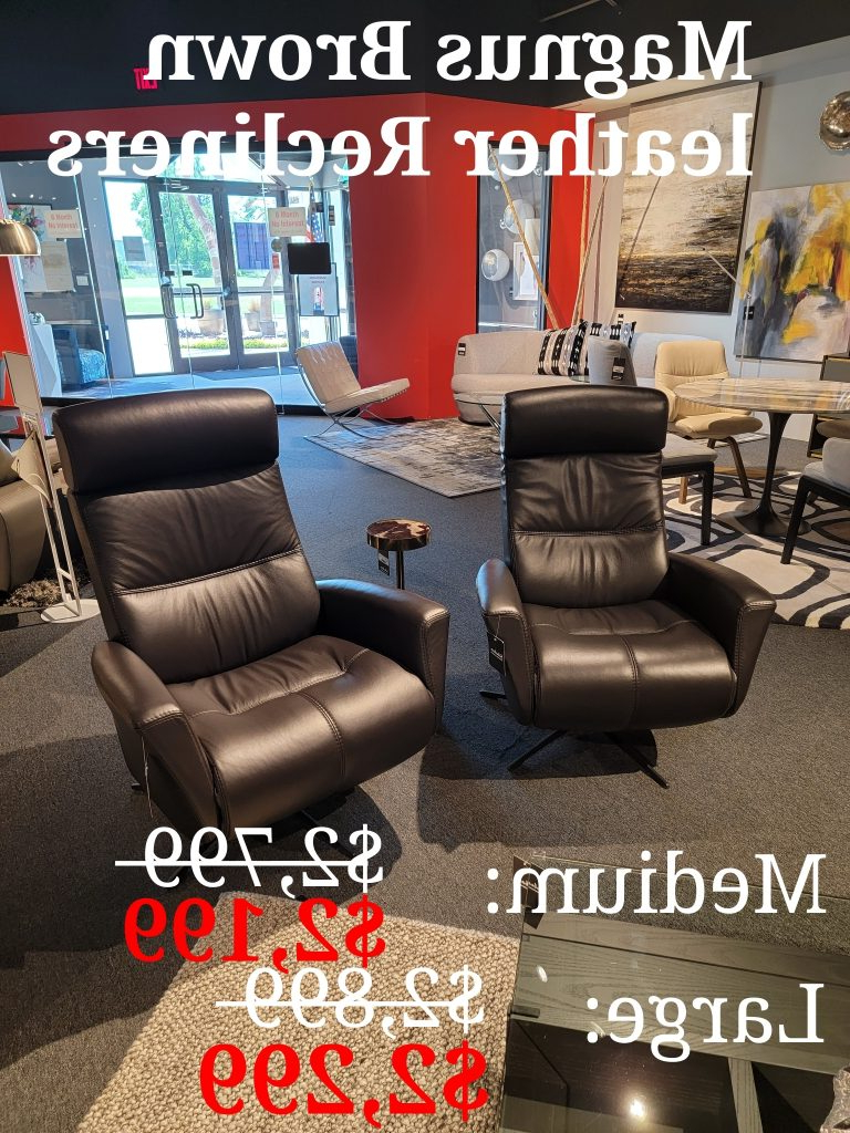 Newest Magnus Brown Power Reclining Sofas Throughout Magnus Brown Leather Power Recliners – Suburban (View 5 of 20)