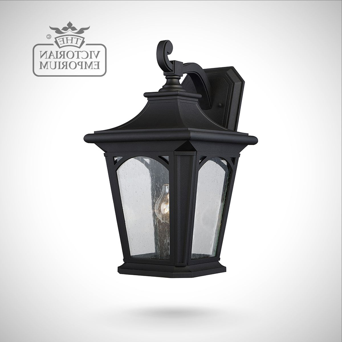 Newest Nayen Black Wall Lanterns For Bedfords Large Wall Lantern In Black (View 14 of 20)