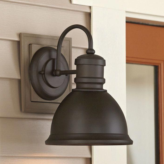 Newest Ranbir Oil Burnished Bronze Outdoor Wall Lanterns With Dusk To Dawn Throughout Designer Bathrooms  (View 7 of 20)