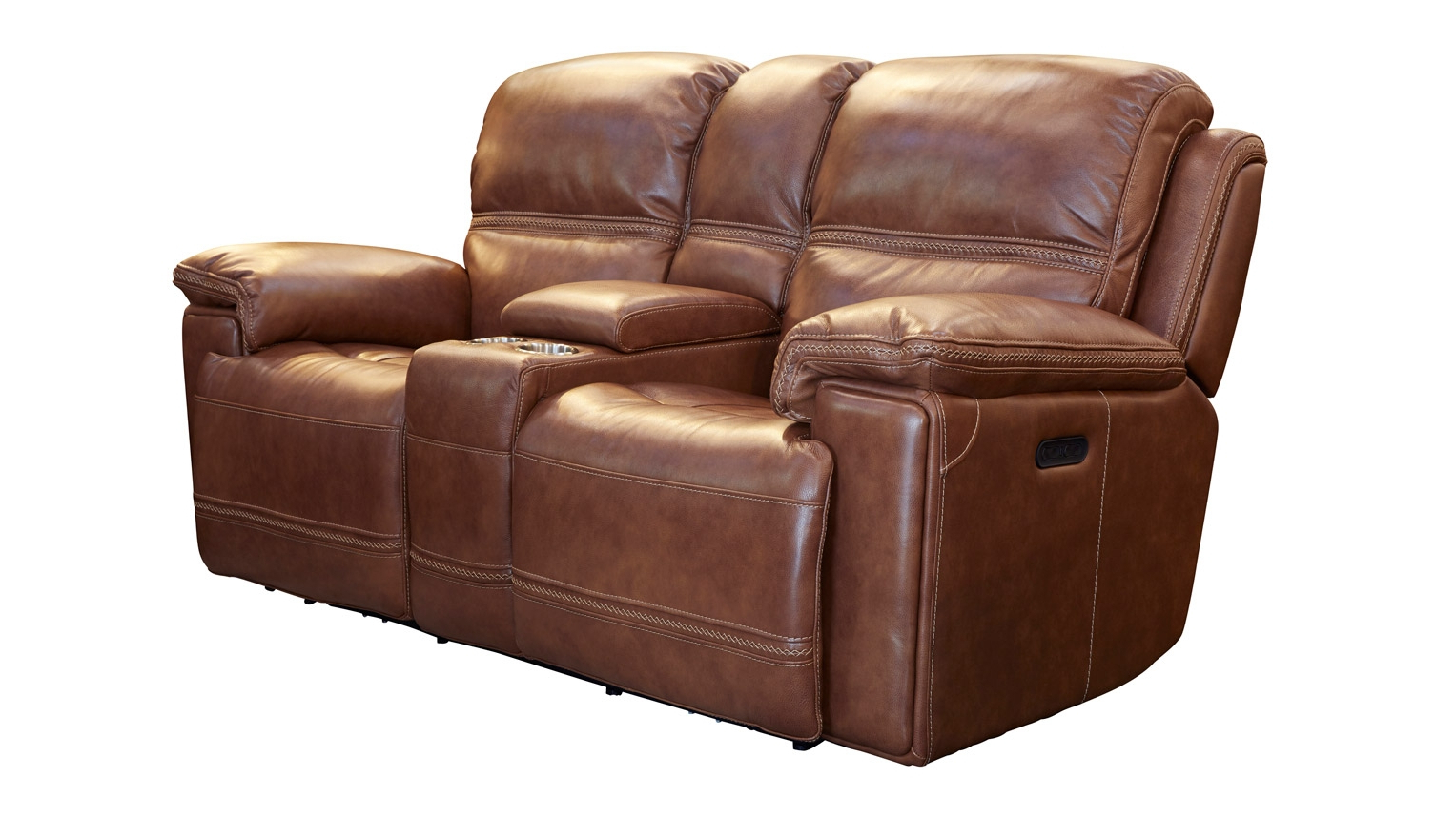 Newest Secretariat Brown Power Reclining Loveseat W/console With Expedition Brown Power Reclining Sofas (View 13 of 20)