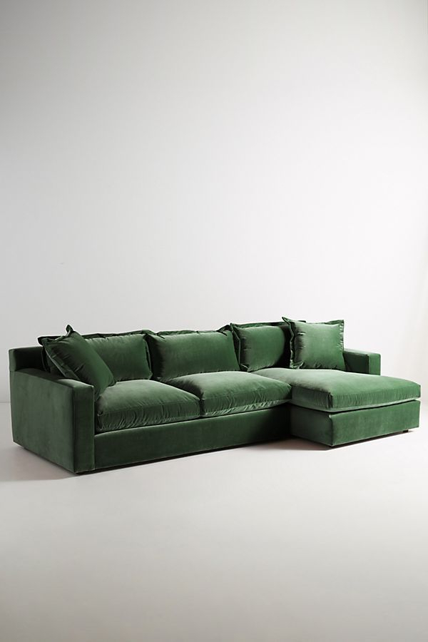 Newest Velvet Katina Left Sectional (View 11 of 20)