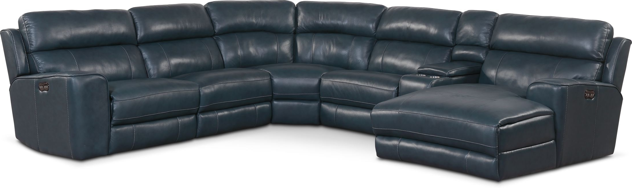 Newport 6 Piece Dual Power Reclining Sectional With Chaise With 2018 Forte Gray Power Reclining Sofas (View 9 of 20)