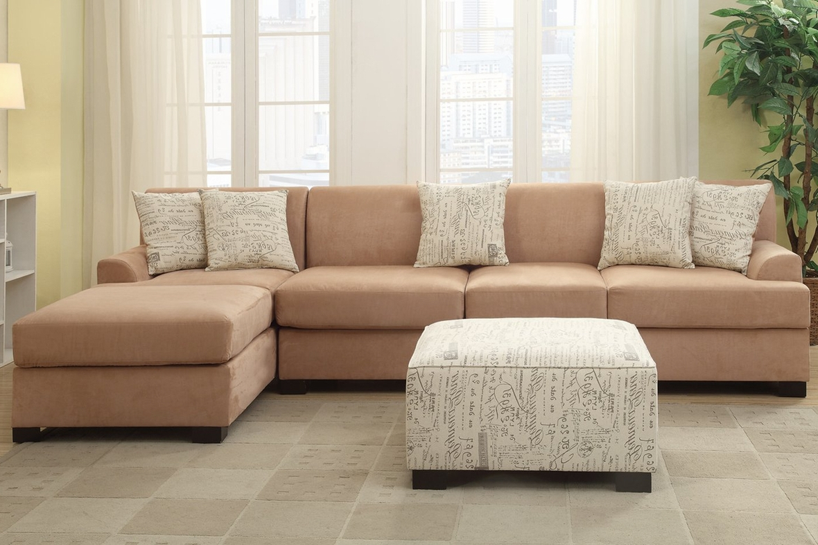 Nia Beige Fabric Sofa – Steal A Sofa Furniture Outlet Los Pertaining To Well Known Beige Sofas (View 3 of 20)