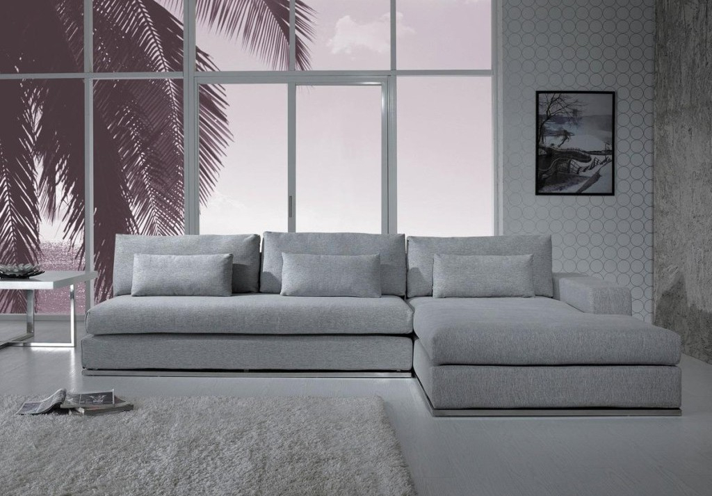 Noa Sectional Sofas With Ottoman Gray With Best And Newest Gray Sectional Sofa With Chaise: Luxurious Furniture (View 15 of 20)